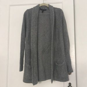 Cozy wool BCBG open cardigan, Small